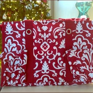 NEW Red Parisian Pop Organizing Utility Tote
